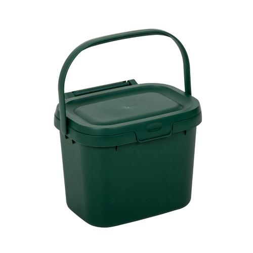 Addis Kitchen Caddy Locking Lid 5 Litre Green Ref 518250