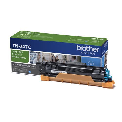 Brother TN247C Toner Cartridge High Yield 2300pp Cyan Ref TN247C