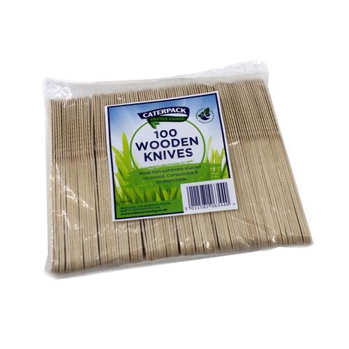 Natural Birchwood Biodegradable Knife [Pack 100]