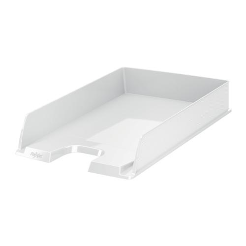 Rexel Choices Letter Tray PP A4 254x350x61mm White Ref 2115602