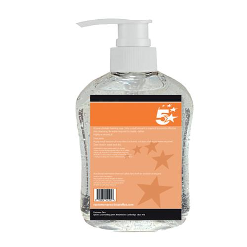 5 Star Facilities Hand sanitiser 70% Alcohol 500ml With Pump [Pack 6]