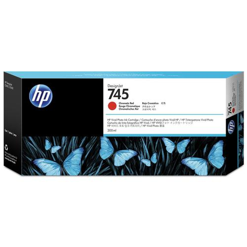 Hewlett Packard [HP] No.745 DesignJet Ink Cartridge Chromatic Red 300ml Ref F9K06A *3to5 Day Leadtime*