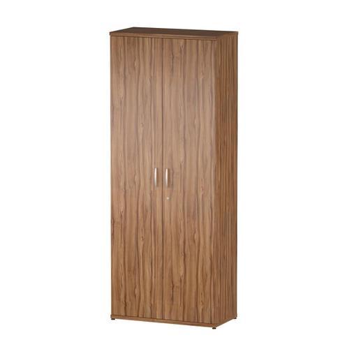 Trexus Office Very High Cupboard 800x400x2000mm 4 Shelves Walnut Ref S00008