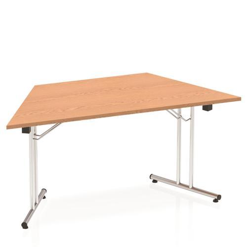 Sonix Trapezoidal Chrome Leg Folding Meeting Table 1600x800mm Oak Ref I000799