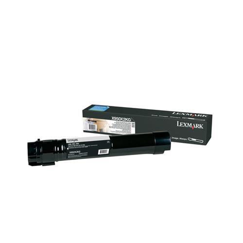 Lexmark X95x Laser Toner Cartridge Extra High Yield Page Life 32000pp Black Ref X950X2KG