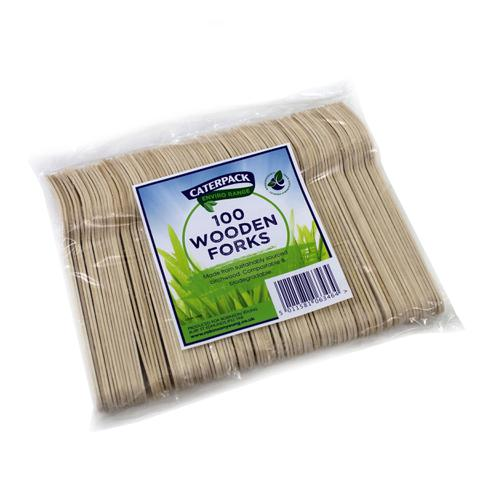 Natural Birchwood Biodegradable Fork [Pack 100]