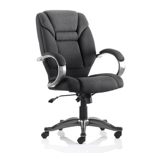 Trexus Galloway Executive Chair With Arms Fabric Black Ref EX000030
