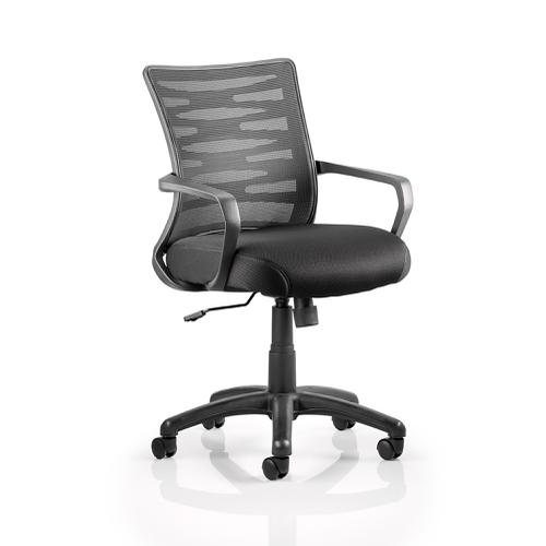 Trexus Vortex Task Operator Chair With Arms Mesh Back Black Ref OP000180