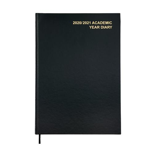 5 Star Office 2020/21 Academic Diary August-August Week-to-View A4 Black