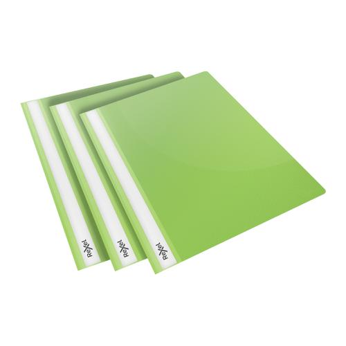 Rexel Choices Report Fldr Clear Front Capacity 160 Sheets A4 Green Ref 2115643 [Pack 25]