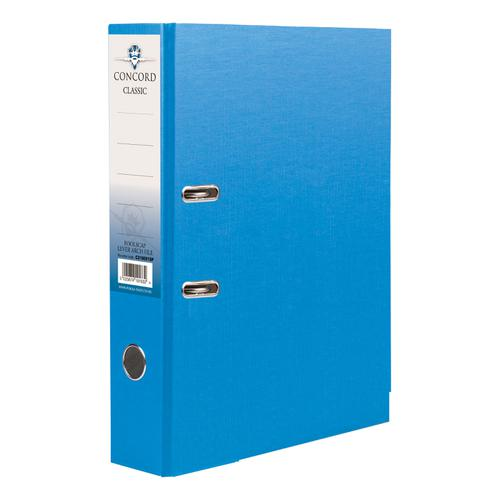 Concord Classic Lever Arch File Capacity 70mm A4 Blue Ref C214040 [Pack 10]