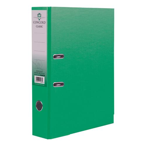 Concord Classic Lever Arch File Capacity 70mm A4 Green Ref C214042 [Pack 10]