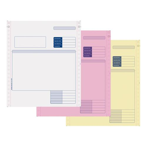 Sage Compatible Invoice 3 Part NCR Paper with Tinted Copies Ref SE03 [Box 750]