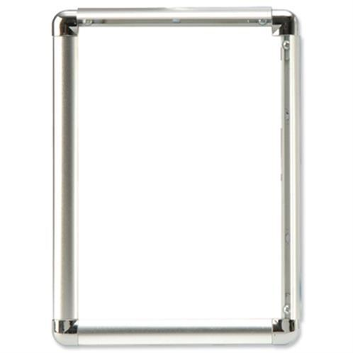 5 Star Facilities Clip Display Frame Aluminium with Fixings Front-loading A3 297x13x420mm Silver