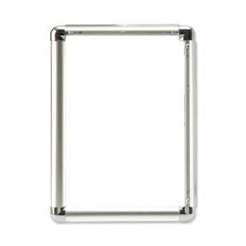 5 Star Facilities Clip Display Frame Aluminium with Fixings Front-loading A1 594x13x841mm Silver