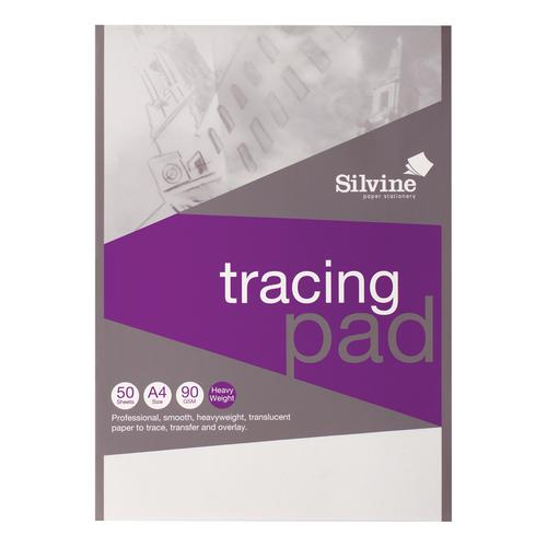 Image for Silvine Professional Tracing Pad Acid Free Paper 90gsm 50 Sheets A4