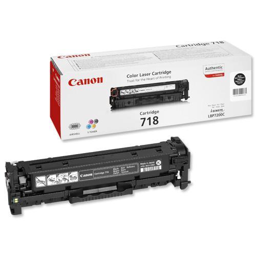 Canon 718BK Laser Toner Cartridge Page Life 3400pp Black Ref 2662B002