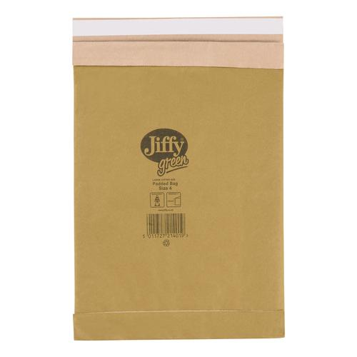 Jiffy Padded Bag Envelopes Size 4 Peel and Seal 225x343mm Brown Ref JPB-4 [Pack 100]