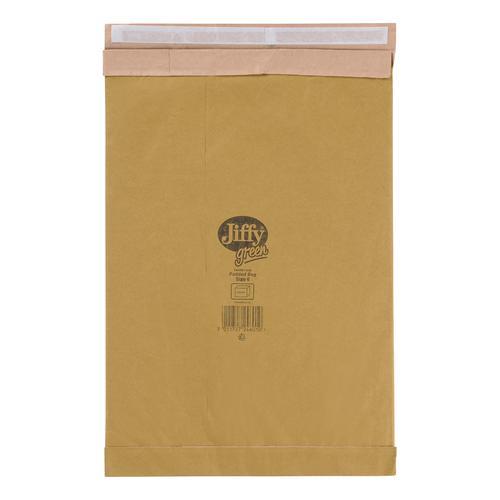 Jiffy Padded Bag Envelopes Peel and Seal Size 6 295x458mm Brown Ref JPB-6 [Pack 50]