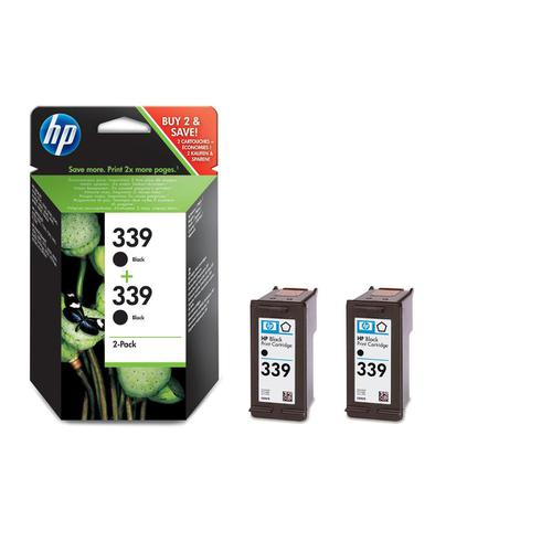 Hewlett Packard [HP] No.339 Inkjet Cartridge Page Life 860pp 21ml Black Ref C9504EE [Pack 2]