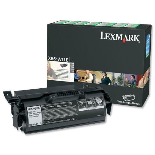 Lexmark T650/T652/T654 Laser Toner Cartridge Return Programme Page Life 7000pp Black Ref T650A11E