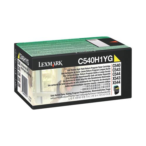 Lexmark C54x/X54x Laser Toner Cartridge Return Programme High Yield Page Life 2000pp Yellow Ref C540H1YG