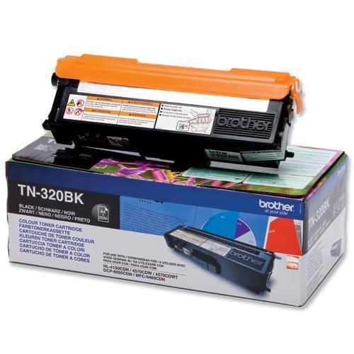 Brother Laser Toner Cartridge Page Life 2500pp Black Ref TN320BK
