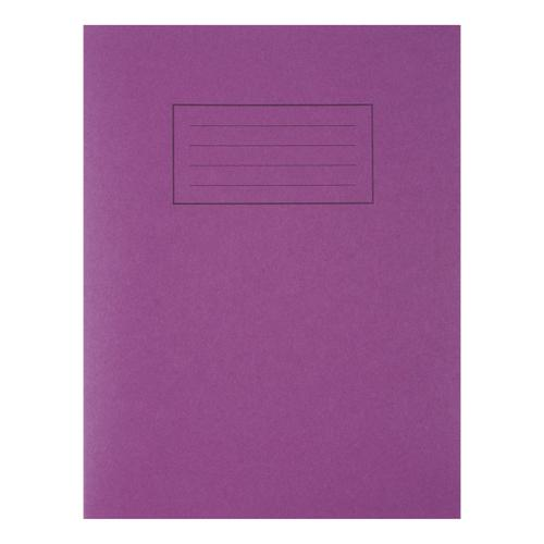 Silvine Exercise Book Ruled and Margin 80 Pages 75gsm 229x178mm Purple Ref EX100 [Pack 10]