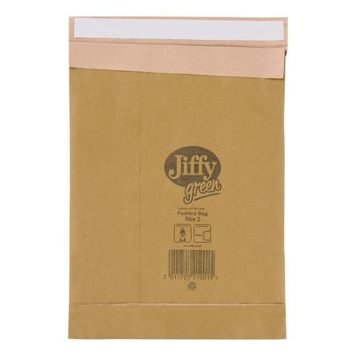 Jiffy Padded Bag Envelopes Size 2 195x280mm Brown Ref JPB-2 [Pack 100]