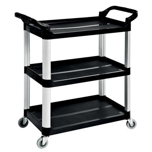 5 Star Facilities Utility Tray Trolley Standard 3 Shelf Capacity 150kg W460xD750xH980mm
