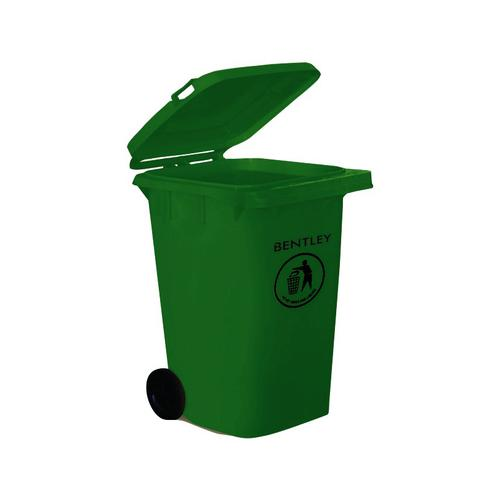 Wheelie Bin High Density Polyethylene with Rear Wheels 240 Litre Capacity 580x740x1070mm Green