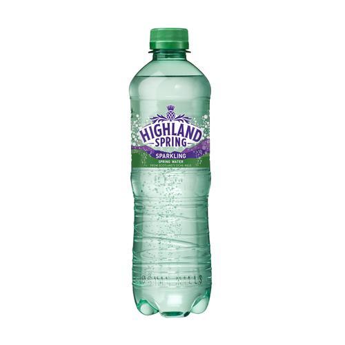 Highland Spring Water Sparkling Bottle Plastic 500ml Ref N007865 [Pack 24]