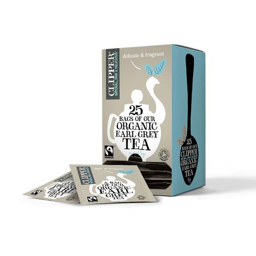 Clipper Fairtrade Organic Earl Grey Tea Bags Ref 0403265 [Pack 25]