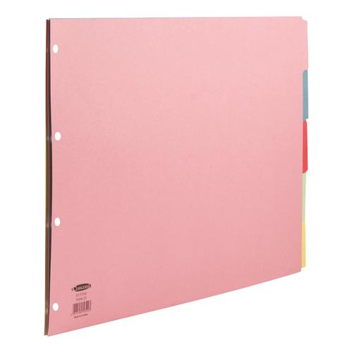Concord Subject Dividers 5-Part Multipunched 160gsm Landscape A3 Assorted Ref 70399/J3