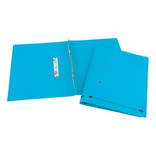 Elba StrongLine Spiral Transfer Spring File 320gsm Foolscap Blue Ref 100090035 [Pack 25]