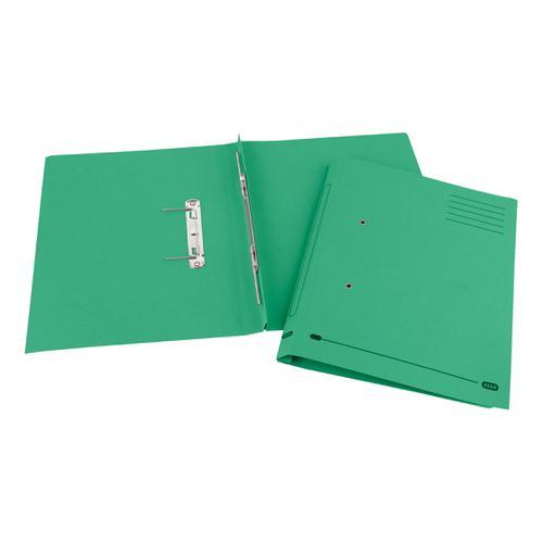 Elba StrongLine Spiral Transfer Spring File 320gsm Foolscap Green Ref 100090036 [Pack 25]