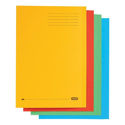 Elba StrongLine Square Cut Folder 320gsm 32mm Foolscap Assorted Ref 100090267 [Pack 50]