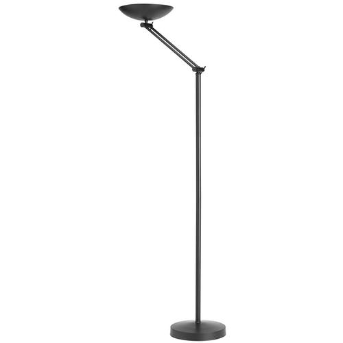 Unilux First Articulated Bowl Uplighter Floor Lamp 230W Height 1860mm Base 335mm Black Ref 100340571
