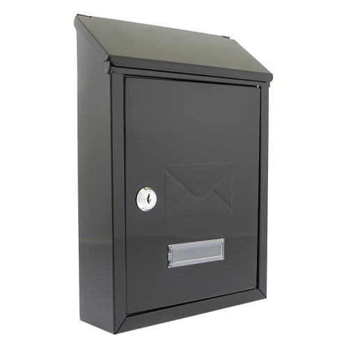Image for Post or Suggestion Box Wall Mountable with Fixings 223x86x320mm Black