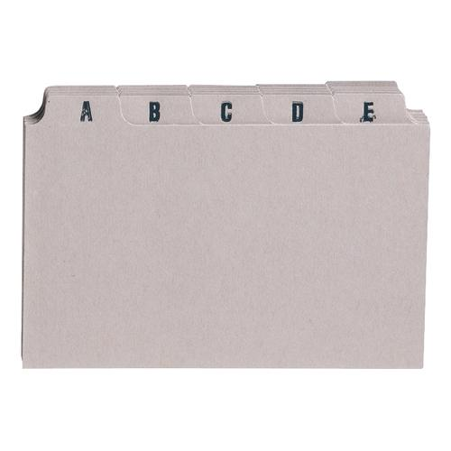 5 Star Office Guide Card Set A-Z 5x3in 25 Cards 127x76mm Buff