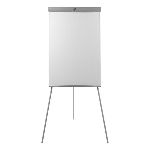 5 Star Office Flipchart Easel Telescopic Legs with W670xH990mm Board W700xD82xH1900mm Grey Trim