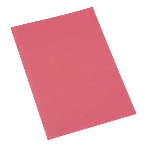 5 Star Office Square Cut Folder Recycled 250gsm Foolscap Red [Pack 100]