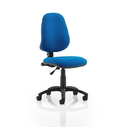 Trexus 1 Lever High Back Permanent Contact Chair Blue 480x450x490-590mm Ref OP000159