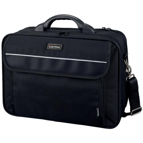 Lightpak Arco Laptop Bag Padded Nylon Capacity 17in Black Ref 46010