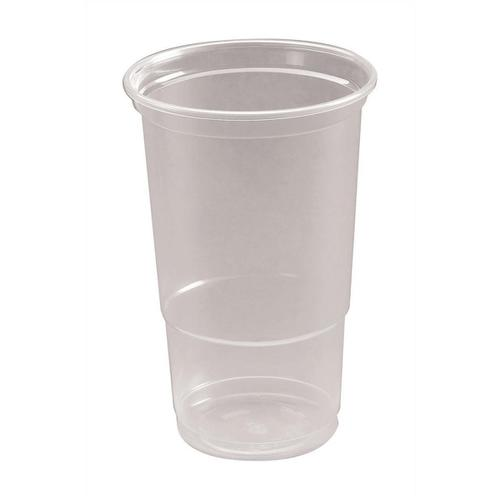 Pint Tumbler CE Marked Polypropylene 19.2oz 568ml Clear Ref 30011 [Pack 50]