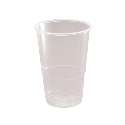 Half Pint Tumbler CE Marked Polypropylene 9.6oz 284ml Clear Ref 30010 [Pack 50]