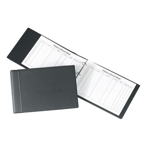 Concord Visitors Book Loose-leaf 3-Ring Binder with 50 Sheets 2000 Entries 230x355mm Black Ref 85710/CD14