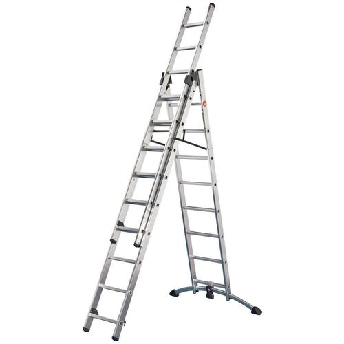 Combi Ladder 3 Section Capacity 150kg Rungs 3x12 for H9.25m 29.2kg Aluminium
