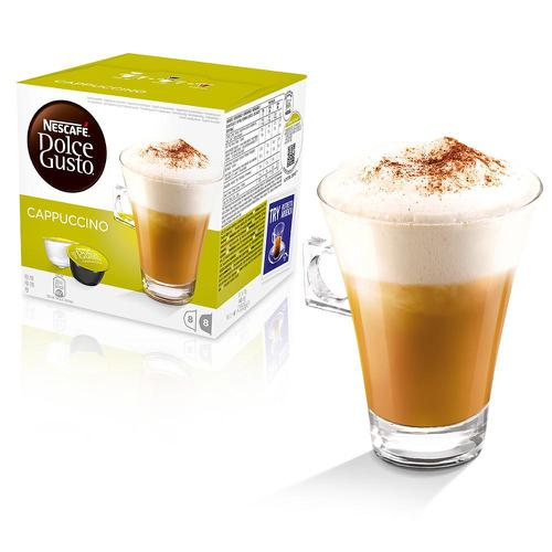 Nescafe Cappuccino Capsules for Dolce Gusto Machine Ref 12019905 Packed 48 (3x16 Capsules=24 Drinks)