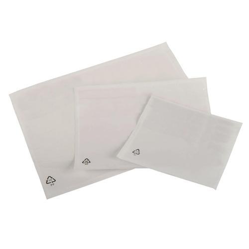 Packing List Document Wallet Polythene Waterproof Plain A5 225x165mm Whiter Ref DE009 [Pack 1000]